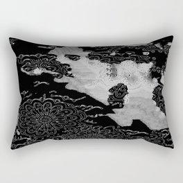 Swimming Glyphs and Sunflowers Rectangular Pillow