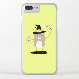 Happy Halloween Witch Cat T-Shirt Dfewd Clear iPhone Case