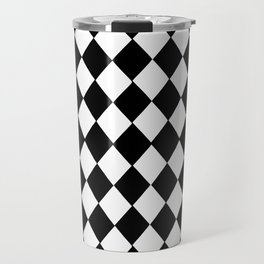 HARLEQUIN BLACK AND WHITE PATTERN #2 Travel Mug