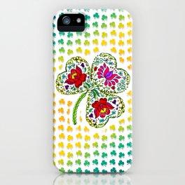 Flowery Shamrock iPhone Case