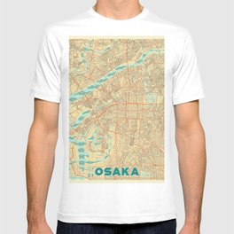 Osaka Map Retro T-shirt