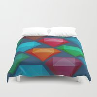 diamonds Duvet Covers featuring Diamonds by Andrew Leif Hanssen