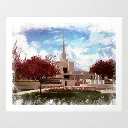 Denver Colorado LDS Temple Art Print