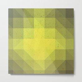Kryptonite green poly pattern Metal Print