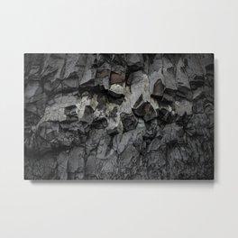 Iceland Rock wall Metal Print
