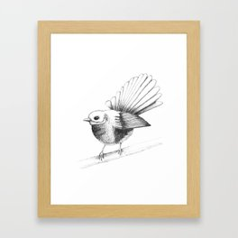 New Zealand Fantail Framed Art Print