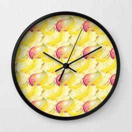 Fruits Pattern Wall Clock