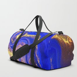 Marble gold and deep blue Duffle Bag