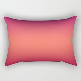 Living Coral Pink Peacock Jester Red Gradient Ombre Pattern Rectangular Pillow