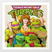 tmnt Art Prints featuring TMNT by Kyle Harlan