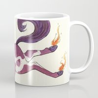 sagittarius Mugs featuring Sagittarius by Cecilia M Creations
