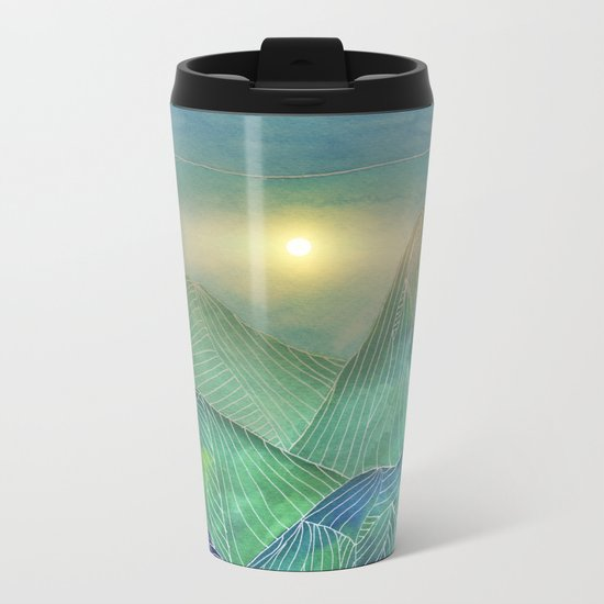 Lines in the mountains V Metal Travel Mug