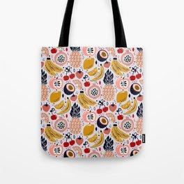 Pastel Fresh Funky Fruit Tote Bag