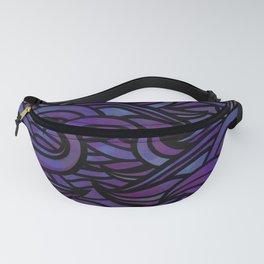 Purple waves Fanny Pack