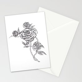 Roses in Ink Stationery Cards