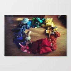 Cat Color Wheel Canvas Print
