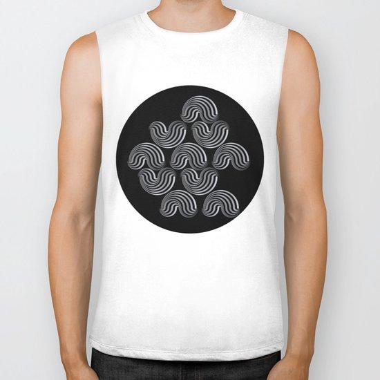 Black and white pattern - Optical game12 Biker Tank