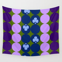 Blue clovers and purple haze Wall Tapestry