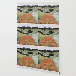 Poppy Field in a Hollow near Giverny by Claude Monet Wallpaper