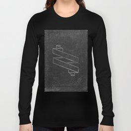 Dark Halloween Vintage Cover Long Sleeve T-shirt