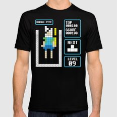 TETRIS: Human Type Black LARGE Mens Fitted Tee