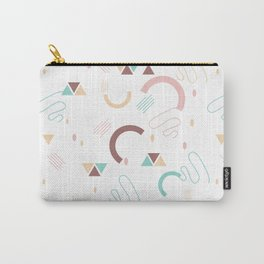 Retro abstract colorful seamless pattern in modern geometric style Carry-All Pouch