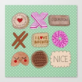 I Love Biscuits  Canvas Print