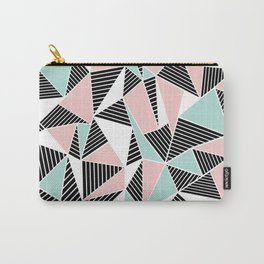 AbLines with Blush Mint Blocks Carry-All Pouch