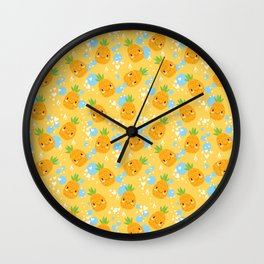 Funny Pineapples 2 Wall Clock