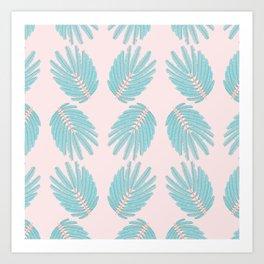 Even-Pinnate Leaf Pattern Art Print