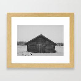 Northern Cabin Framed Art Print