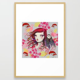 Red Owl Framed Art Print
