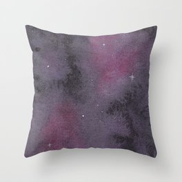 Watercolour Stary Night in Space Throw Pillow