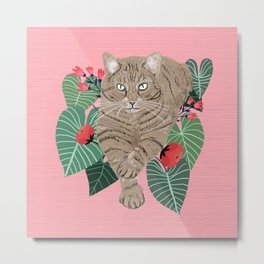 Self confident cat Metal Print