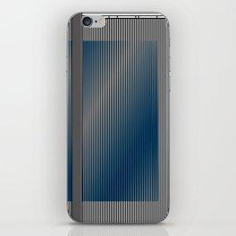 Escultura Cubo virtual azul y negro con progresión amarilla -Detail- iPhone Skin