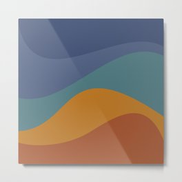 Abstract Color Waves - Vibrant Rainbow Metal Print