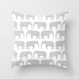 Alabama bama crimson tide elephant state college university pattern footabll Throw Pillow