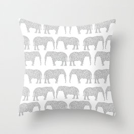 Alabama bama crimson tide elephant state college university pattern footabll Throw Pillow
