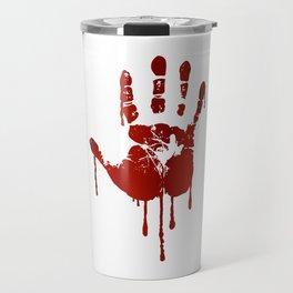 Bloody halloween hand Travel Mug
