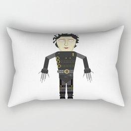 Vector Edward Hand scissors Rectangular Pillow