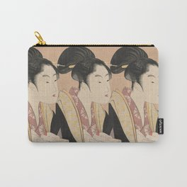 Vintage Japanese Ukiyo-e Woodblock Print Woman Portrait II Carry-All Pouch