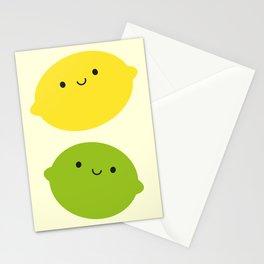Kawaii Lemons & Limes Stationery Cards