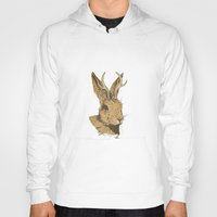 jackalope Hoodies featuring The Jackalope by Black Bear / White Bear