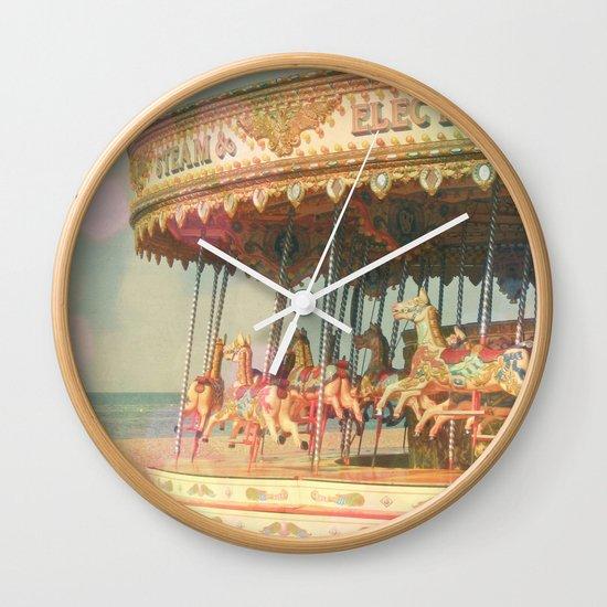Circling Horses Wall Clock