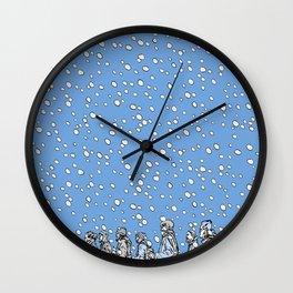 Snowing Wall Clock