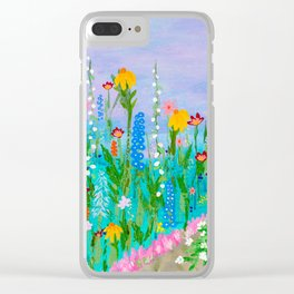 Come Sit in My Garden Clear iPhone Case