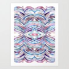 Cheeky Zebra {A} Art Print