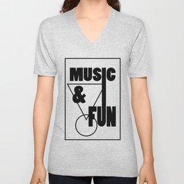 Music & Fun Unisex V-Neck