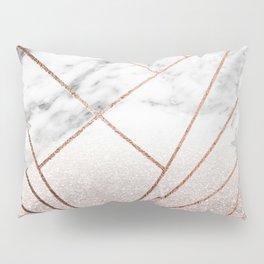 Rose glitter rising geo Pillow Sham