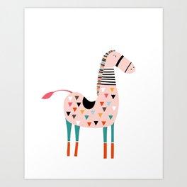 Stella the Pink Horse Art Print